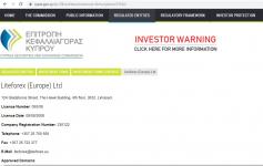 Thông tin giấy phép LiteForex (Europe) Limited